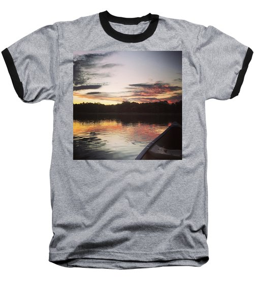 Red Spotted Sunset Baseball T-Shirt