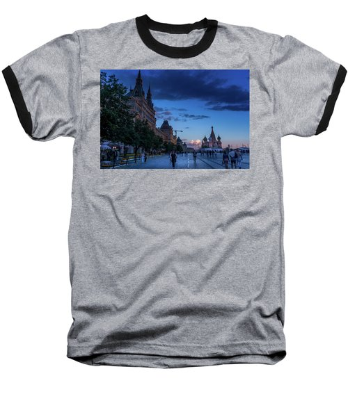 Red Square At Dusk Baseball T-Shirt