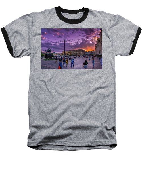 Red Square At Sunset Baseball T-Shirt