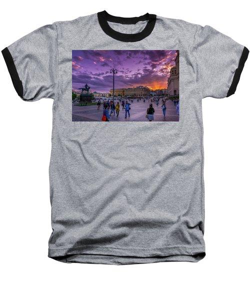 Red Square At Sunset Baseball T-Shirt