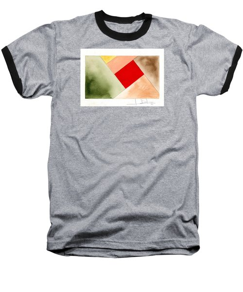 Red Square Tanned Baseball T-Shirt