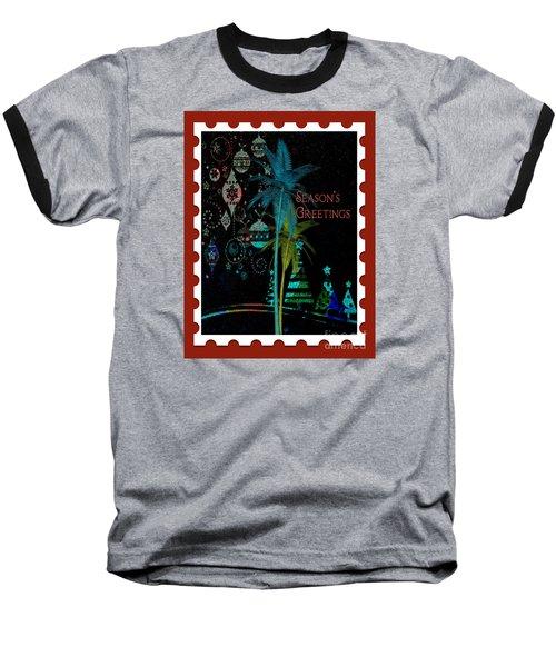 Baseball T-Shirt featuring the digital art Red Stamp by Megan Dirsa-DuBois