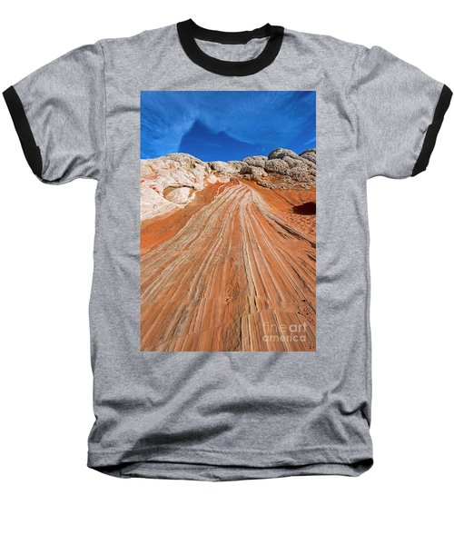 Baseball T-Shirt featuring the photograph Red Stone Highway by Mike Dawson