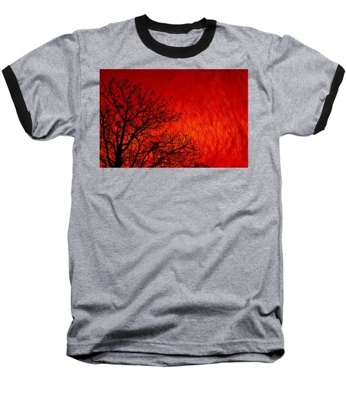 Red Storm Baseball T-Shirt by Charuhas Images