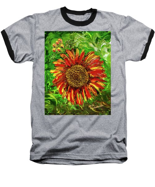 Red Sunflower Baseball T-Shirt