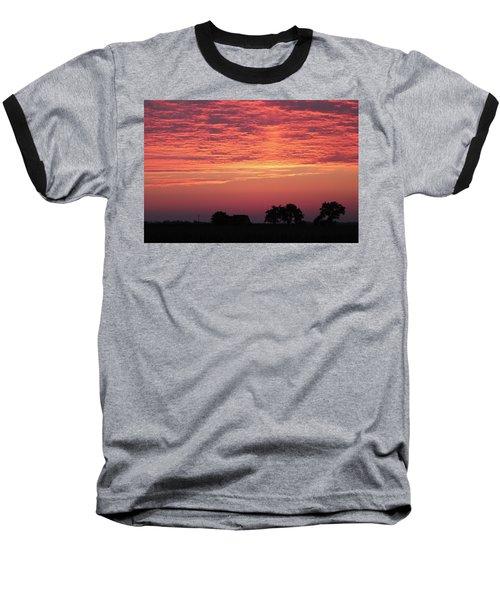 Red Sunrise Baseball T-Shirt