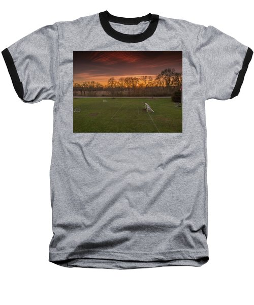 Red Sunset Baseball T-Shirt