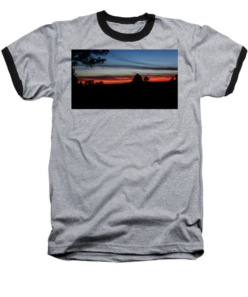 Red Sunset Strip Baseball T-Shirt by Jason Coward