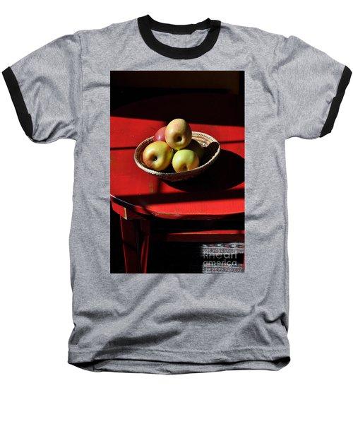 Red Table Apple Still Life Baseball T-Shirt