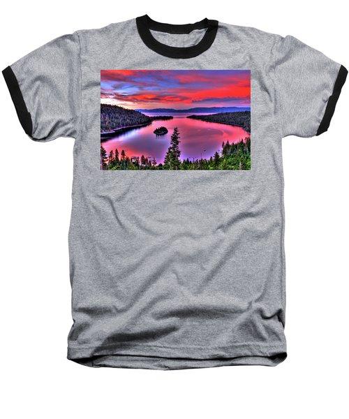Red Tahoe Baseball T-Shirt by Scott Mahon