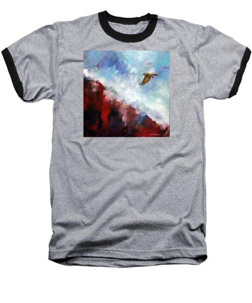 Red Tail Baseball T-Shirt by David  Maynard