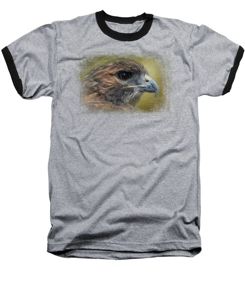 Red Tailed Hawk At Reelfoot Baseball T-Shirt by Jai Johnson