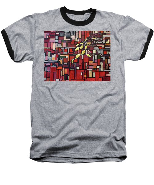 Baseball T-Shirt featuring the painting Red Tango by Joanne Smoley