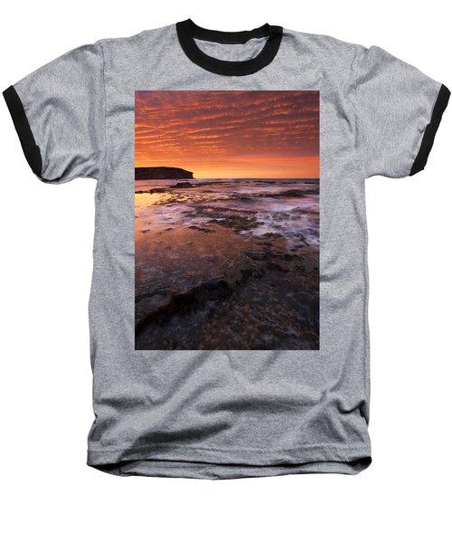Red Tides Baseball T-Shirt by Mike  Dawson
