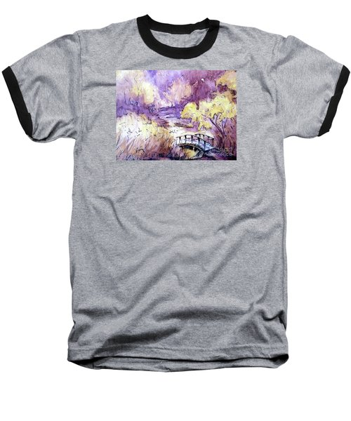 Baseball T-Shirt featuring the painting Red Top Mountain Bridge by Gretchen Allen