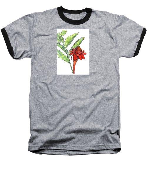 Red Torch Ginger Baseball T-Shirt