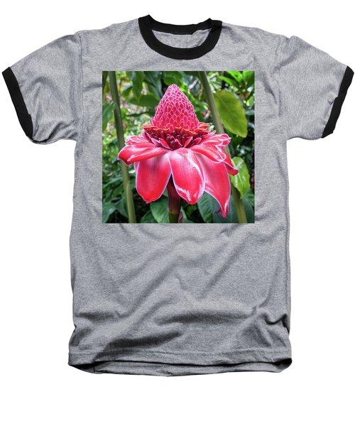 Red Torch Ginger Flower Baseball T-Shirt