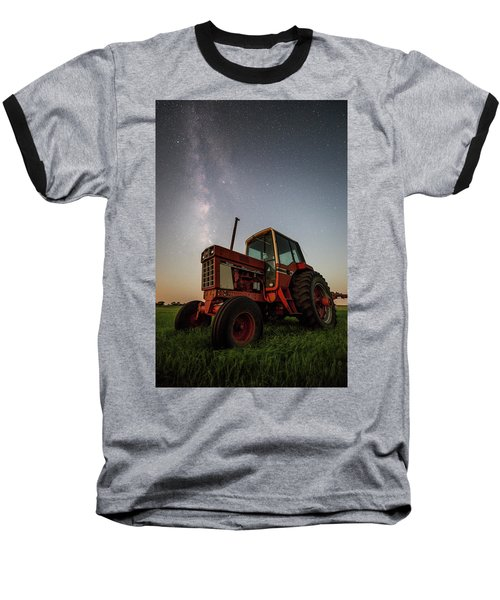 Baseball T-Shirt featuring the photograph Red Tractor by Aaron J Groen