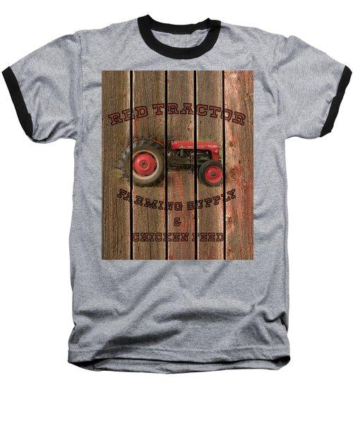 Red Tractor Farming Supply Baseball T-Shirt