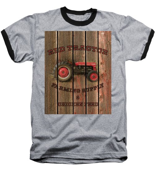 Red Tractor Farming Supply Baseball T-Shirt
