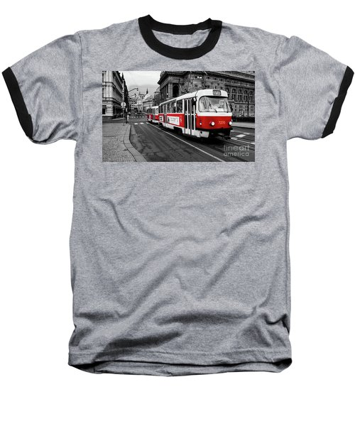 Red Tram Baseball T-Shirt