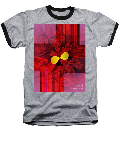 Red Transparency Baseball T-Shirt by Thibault Toussaint