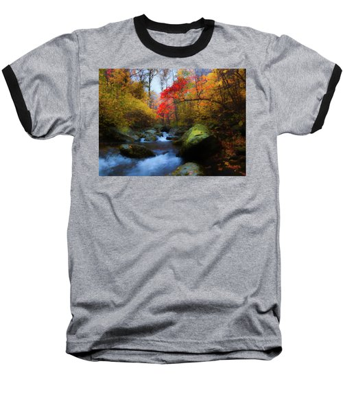 Red Tree In White Oak Canyon Baseball T-Shirt