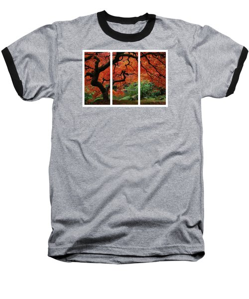 Red Tree Baseball T-Shirt by James Roemmling