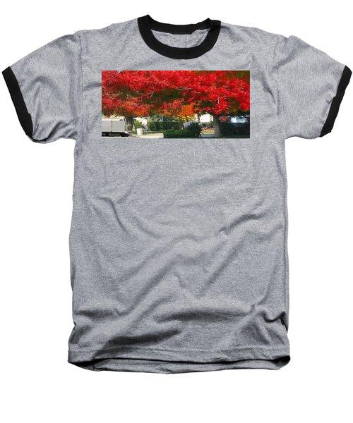 Red Trees Baseball T-Shirt