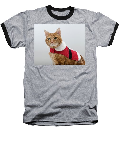 Red Tubby Cat Tabasco Santa Clause Baseball T-Shirt