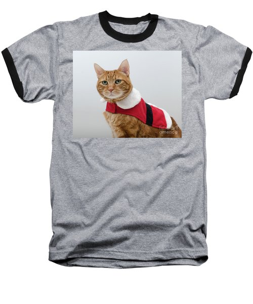 Red Tubby Cat Tabasco Santa Clause Baseball T-Shirt