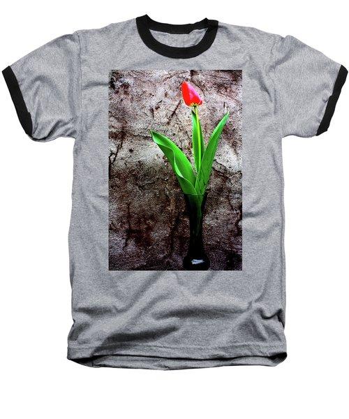 Red Tulip Baseball T-Shirt by Gray  Artus