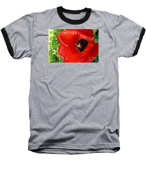 Baseball T-Shirt featuring the photograph Red Tulip by Jean Bernard Roussilhe