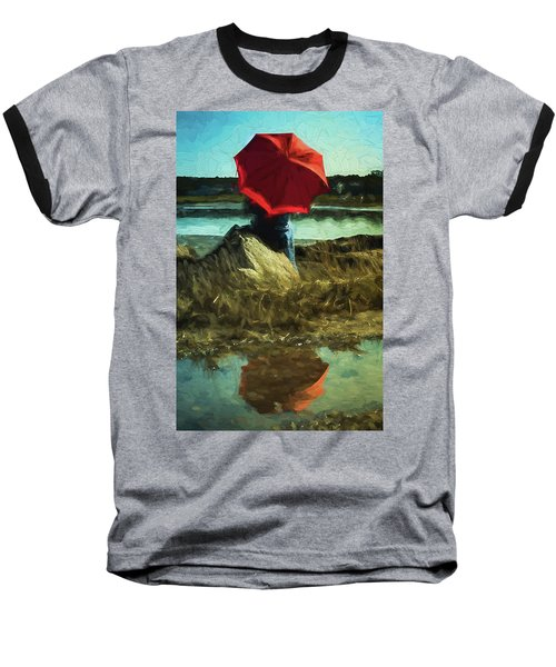 Red Umbrella Baseball T-Shirt