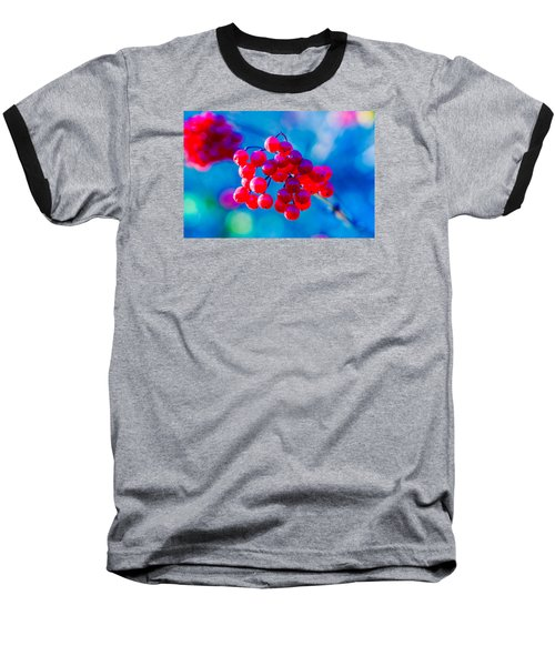 Baseball T-Shirt featuring the photograph Red Viburnum Berries by Alexander Senin
