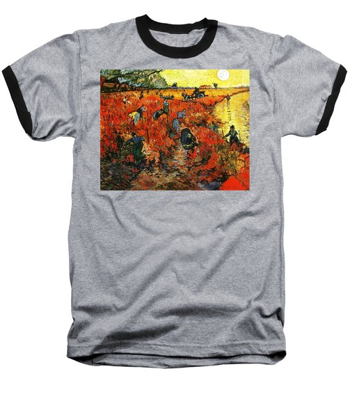 Red Vineyard Baseball T-Shirt by Sumit Mehndiratta