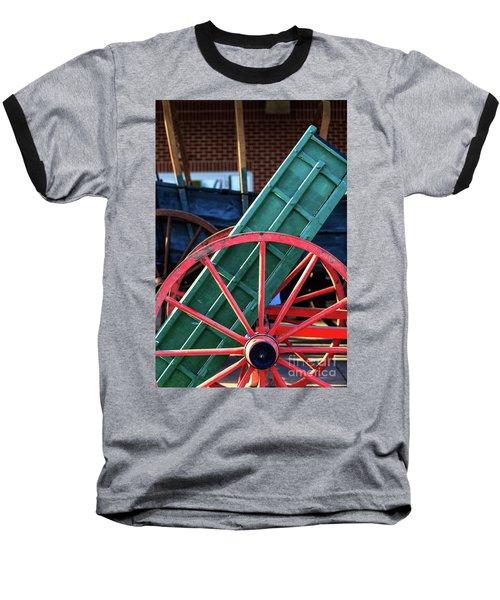 Red Wagon Wheel Baseball T-Shirt