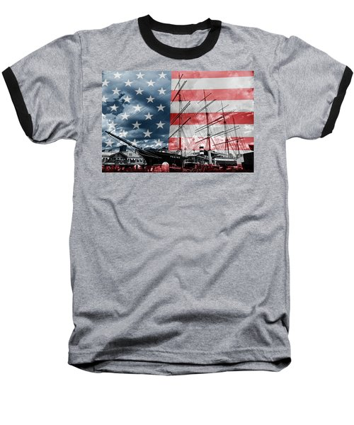 Red White And Blue Baseball T-Shirt