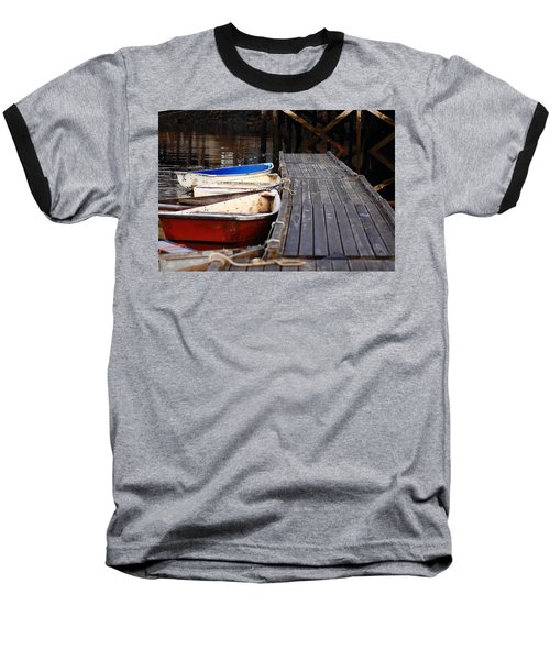 Red, White, And Blue Dingys Baseball T-Shirt