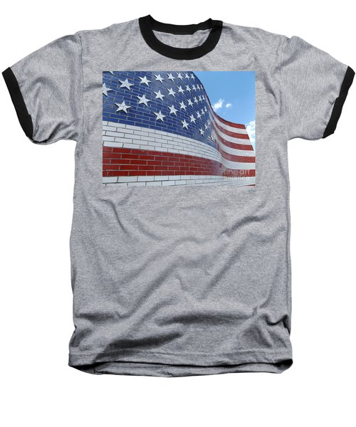 Red White And Brick Baseball T-Shirt by Erick Schmidt