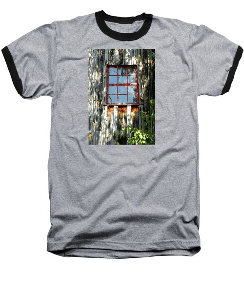 Baseball T-Shirt featuring the photograph The Red Window by Sandi OReilly