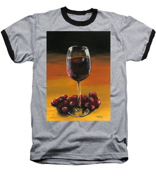 Red Wine And Red Grapes Baseball T-Shirt