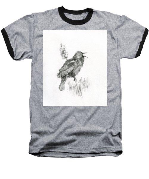 Red-winged Blackbird Baseball T-Shirt