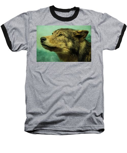 Baseball T-Shirt featuring the digital art Red Wolf Digital Art by Chris Flees