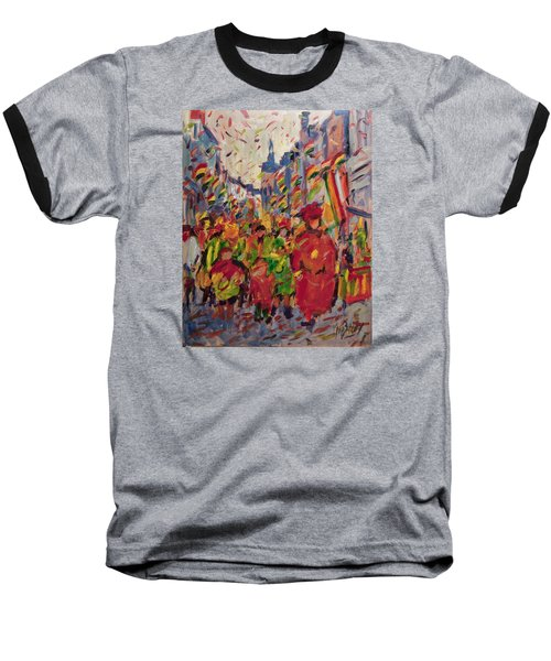 Red Yellow Green There They Come Vreug En Neugter Baseball T-Shirt