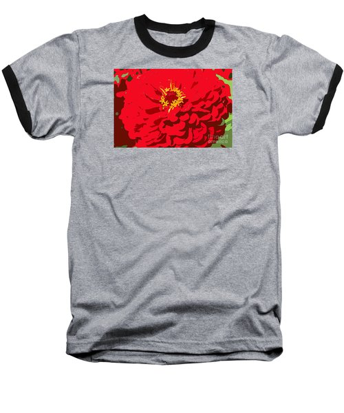 Baseball T-Shirt featuring the photograph Red Zinnia by Jeanette French