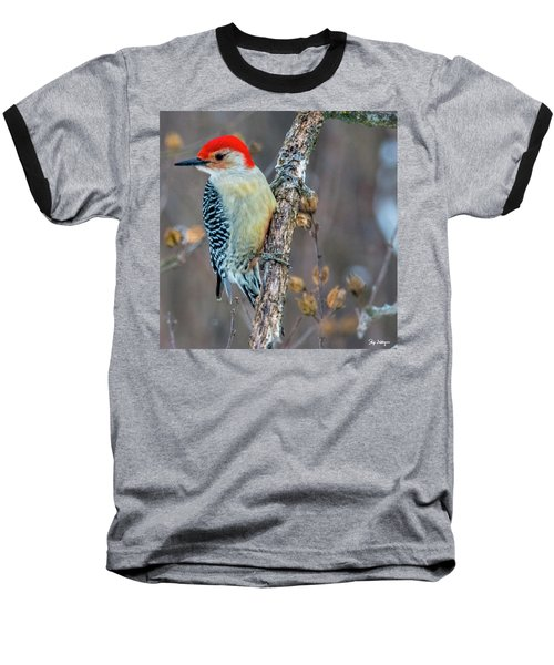 Baseball T-Shirt featuring the photograph Redbellied Woodpecker by Skip Tribby