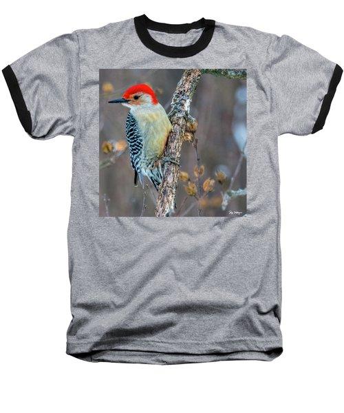 Redbellied Woodpecker Baseball T-Shirt by Skip Tribby
