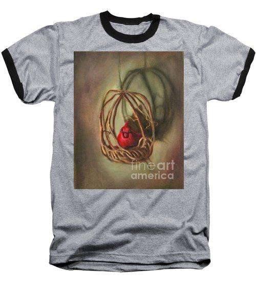 Baseball T-Shirt featuring the painting Redbird by Randol Burns