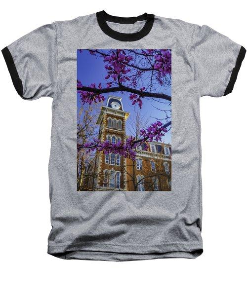 Redbud At Old Main Baseball T-Shirt by Damon Shaw